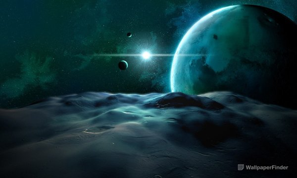 View Of Two Planets From A Moon